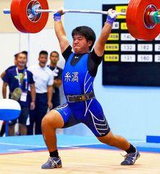 77キロ級で3位になった糸満・久田靖也=明石中央体育会館