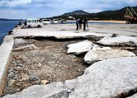 辺野古新基地、年内の土砂投入は困難か 台風被害で本部港使えず