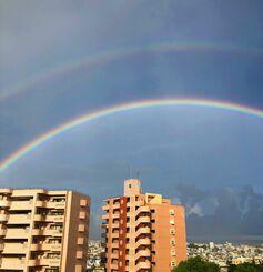 (資料写真)虹