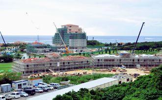 ユニマットプレシャスが建設を進めているシギラリゾートの新施設=12日、宮古島市上野