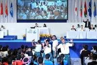 「世界津波の日」高校生サミット開幕 26カ国約260人、防災や復興話し合う