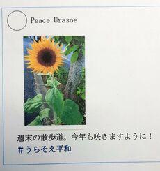 浦添市職員が作成した「#うらそえ平和」の投稿例