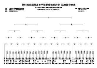 沖縄県高校野球秋季大会の対戦組み合わせ表