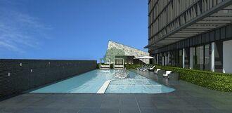 嘉新琉球開発が手掛ける新ホテル「ホテルコレクティブ」の屋外プールのイメージ図(同社提供)
