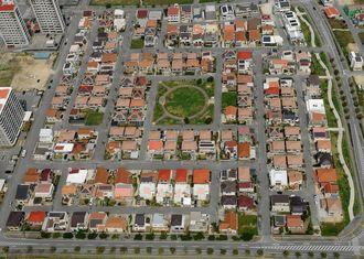 空から撮影した住宅地