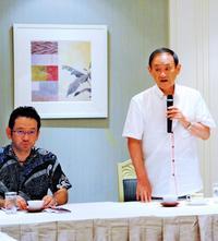 菅長官、経済界やチーム沖縄に支援要請「極めて大事な選挙」