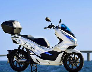 ホンダが宮古島でレンタルする電動バイクのPCXエレクトリック(同社提供)