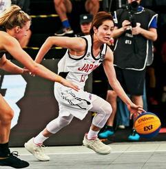 3人制バスケットボールのアジアカップでベスト3に選ばれた日本女子代表の伊集南=中国・長沙市(日本バスケットボール協会提供)