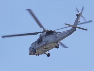 HH60ヘリの同型機=6日、嘉手納基地(読者提供)