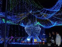 平和の願い、35万の輝きに託して 沖縄・糸満でイルミネーション始まる