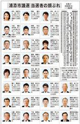 浦添市議選 当選者27人の顔ぶれ