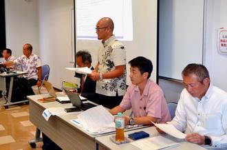 ゲリラ撮影防止声明を発表した沖縄リゾートウェディング協会の定例会=18日、浦添市のてだこホール多目的室