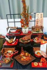 砂川直樹総料理長が金賞と県知事賞を受賞した日本料理部門「会席の部」の作品(提供)