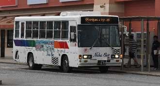 路線バスは午前8時から再開する