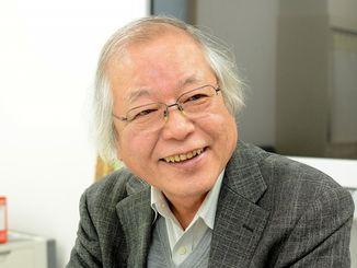 「将来は藻類工学という学問が確立されると思っている」と語る井上勲さん=茨城県、筑波大学藻類バイオマス・エネルギーシステム研究拠点