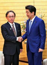 沖縄・デニー知事「対話のドアを」 安倍首相に1カ月の集中協議を要請 訴訟取り下げも