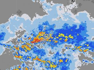14日午前11時30分現在の雨雲の様子(気象庁HPより)