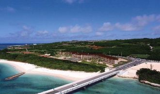 伊良部島で開発を予定している「伊良部島ホテル(仮称)」(日建ハウジング提供)