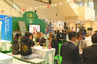 那覇市久茂地のタイムスビル1階エントランスで始まった「麦職人キッチン」