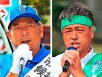 宜野湾市長選も「三日攻防」入り 仲西氏と松川氏が舌戦