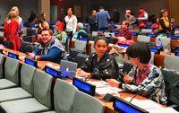 [伝える 琉球の心 国連先住民族世界会議から](上)/国連で発言 交渉に奔走/「沖縄の人権侵害 訴えねば」