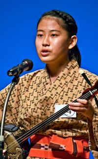 U-18島唄者コンテスト、宮根帆音さんが最優秀賞! 八重山民謡「つぃんだら節」歌う