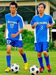 練習に励む吉濱さん(左)と砂川さん=宮古島市内