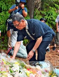 政治の責任実感した翁長知事 補足協定に疑問の声 沖縄・米軍属事件1年【深掘り】