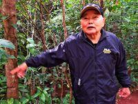 [戦世刻んで 戦後74年]/久高政吉さん(85)名護/飛行機見物 空襲遭い避難/芋掘りの母 銃撃で死去
