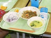 給食にリベット混入 沖縄市 先月の刃に続き