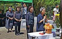 対話と交流で友好を 尖閣遺族 遭難者慰霊祭