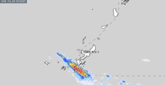 17日午後10時半時点の雨雲の様子(気象庁HPから引用)