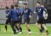サッカー日本代表が調整 豊田スタジアムで、今年最終戦へ