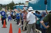 護岸着工から1カ月 「反対の声、上げ続けよう」辺野古ゲート前で抗議