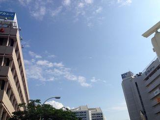沖縄地方は、高気圧に覆われて晴れている
