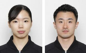 トランポリンの東京五輪代表に決まった宇山芽紅、岸大貴