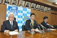 石垣市長「工事は止まらない」 県民投票、不参加表明で一問一答