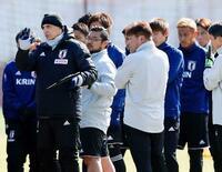 日本代表、マリ戦へ非公開で調整 サッカー、23日に親善試合