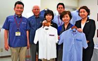 アイロン不要シャツ「共働き増えニーズ」 サンエーが新かりゆし、首里織とコラボ