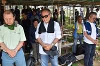「翁長知事の意志を継ぐ」辺野古新基地反対、300人が気勢