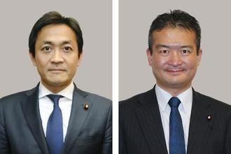玉木雄一郎氏(左)、津村啓介氏