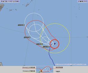 台風28号の72時間進路予報(気象庁HPより)