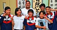 知念先輩「学校の誇り」 ラグビー日本代表 母校沖縄東中訪問