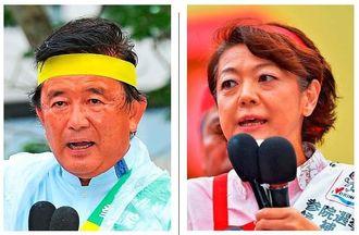 伊波氏(左)と島尻氏