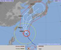台風25号:宮古島は今夜初め暴風域 本島5日未明 瞬間60メートル