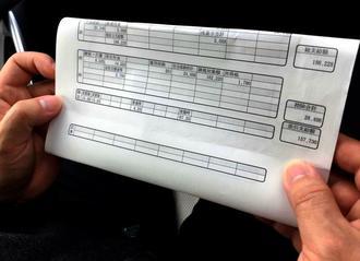 手取り約15万7千円の吉田さんの給与明細。日常的に残業があったが、残業代は4.25時間分しか支払われていない
