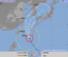 4日午前3時現在の台風25号の進路予想図(気象庁HPから)