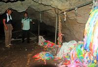 遺族ら絶句「いったい誰が…」 チビチリガマ、内部も被害