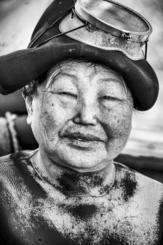 韓国の済州島で撮った海女の写真(ジュランドさん提供)