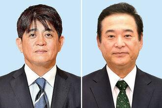(写真左から)安里繁信氏、高良鉄美氏